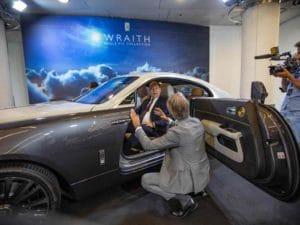 Albert II dans une Rolls Royce