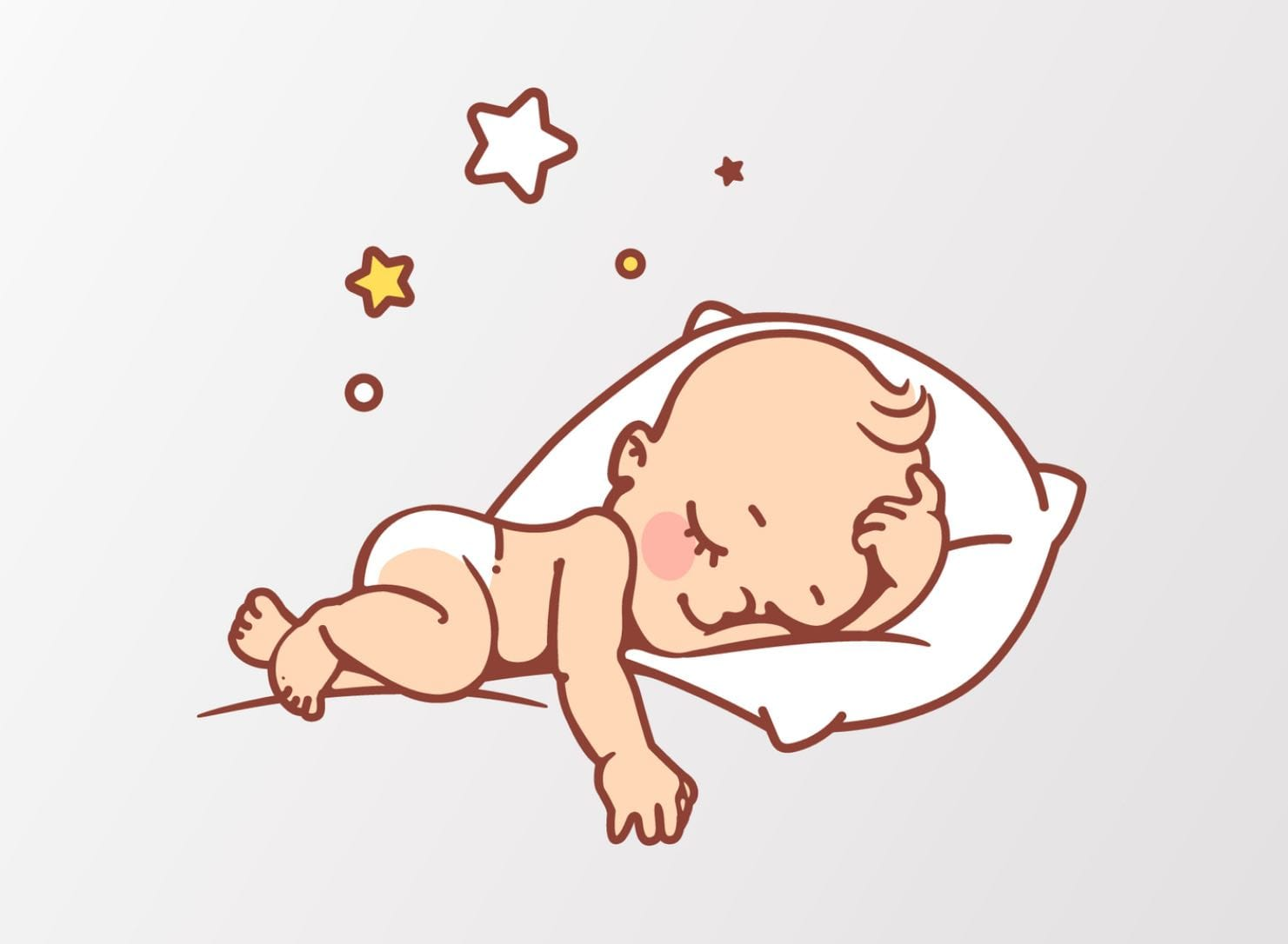 Un bébé a sommeil et dors profondément